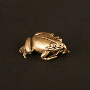 Ornament Traditional Decoration Gift Vintage Brass Portable Frog-Animal