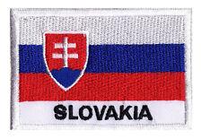Ecusson patch brodé à coudre patche drapeau pays SLOVAQUIE 70 x 45 mm