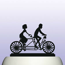 Acrylic Tandem Bicycle Riders Birthday Cake Topper Decoration