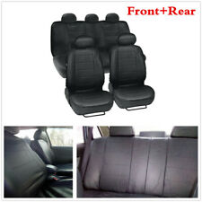 9pcs/Set Universal Car Seat PU Leather Cover 5 Seats Full Front + Rear Cushion