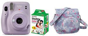 Fuji Instax Mini 11 Lilac Purple Lila inkl Instax Film + Tasche Sofortbildkamera