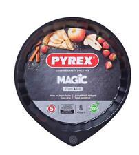 Pyrex Magic Flan Tin Pan Non-Stick Carbon Steel Black 27cm