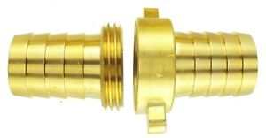 Brass Hose Tail Water Connector, Male or Female, Garden Taps, accessories