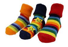 Baby Boy Girl Winter Thick Rainbow Stars Anti-slip Socks 3-pack Age 6-24 M
