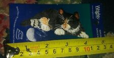 New Wrights iron on applique patch tortoise cat long hair kitten pet animal nip