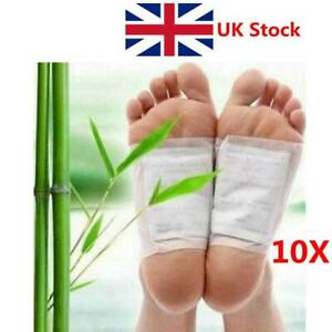 10pcs Safety  Ginger Detox Foot Patches Organic  Herbal Cleaning Detox Pads UKA;