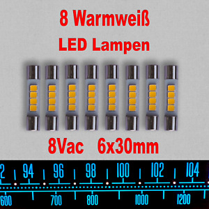 8x Vintage Marantz Pioneer LED Lampen Warmweiß 8Vrms Hintergrundbeleuchtung