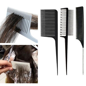 3 x Hair Highlighting Foiling Hair Comb Hair Color Styling Dyeing Combs Set