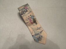VINTAGE POLO RALPH LAUREN HAND MADE IN USA SILK TIE SAILING SCENE
