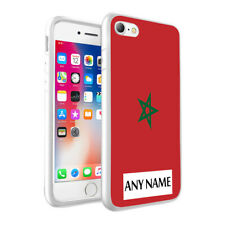 Personalised NAME Morocco Flag Printed Hard Case for Various Phone Models - 0118