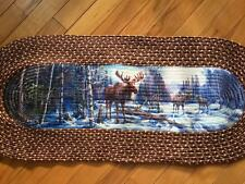Moose Woodland Scenic Braided Runner Home Decor