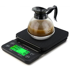 0.1g-3kg Portable Digital LED Display Coffee Drip Scale with Timer For Kitchen
