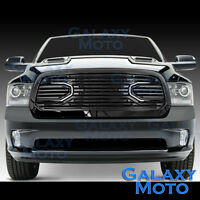 Front Hood Big Horn Black Replacement Grille+Shell for 13-17 Dodge RAM 1500
