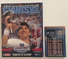 NY GIANTS SUPER BOWL XLVI CHAMPIONS BANNER RAISING PROGRAM ELI MANNING