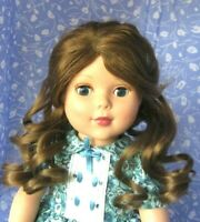 Imsco CINDY Lt. Brown Full Cap Doll Wig SZ 12-13  Long Pulled Back Curls
