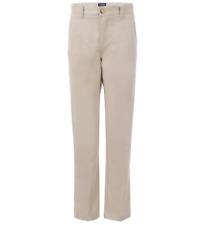 New listing Chaps Boys' Big Flat Front Twill Chino Pants, Khaki, Size 12
