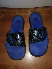 Mens under armour sandals  slides size 10 Blue & Black