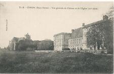PC09486 Oiron. Deux Sevres. Vue Generale du Chateau et de l Eglise. Dando Berry.