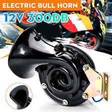 UK 12V Loud 300dB Electric Bull Air Horn Raging Sound For Car Truck Boat 175Hz