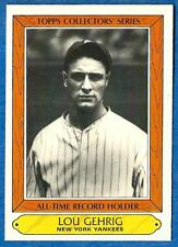 1987 Topps All-Time Record Holders LOU GEHRIG  #14  (New York Yankees) au