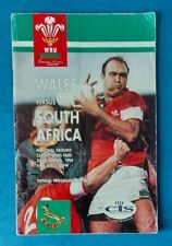 More details for 1994 - wales v south africa, autographed (wales) match programme.