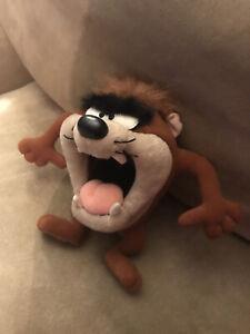 """Vintage 1994 Tasmanian Devil Plush Stuffed Animal Taz Looney Toons Tyco 8"""""""