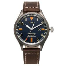 TIMEX TW2P83800 Waterbury Red Wing Collection Indiglo Leather Watch 40mm Quartz