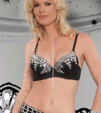 Gem Waterfall Bra Top in Black 32-34 A/B Cup SM/MD Style 2986 by Western Fashion