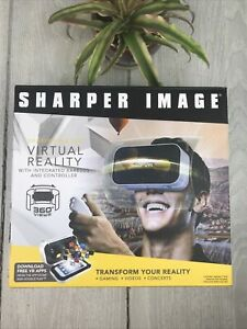 Sharper Image Platinum Virtual Reality Headset With Controller & Earbuds