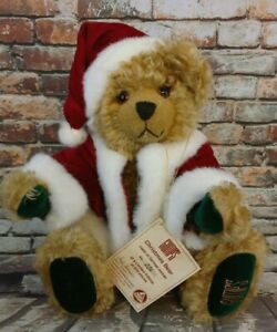 Hermann Gumps Christmas Bear Collector Mohair German LE 226 of 250 with Growler