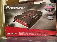 Pioneer 1000W Peak 2-Channel A Series Bridgeable Class AB 2-Ohm Car Amplifier