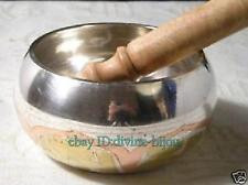 Tibet cuivre bouddhiste tibétain chantant blanc bol