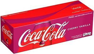 Coca Cola Cherry Vanilla 355ml Cans x12 ( BBF November 2021)-USA IMPORT