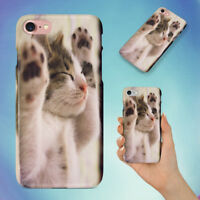 ANIMAL CAT FACE FELINE HARD BACK CASE FOR APPLE IPHONE PHONE
