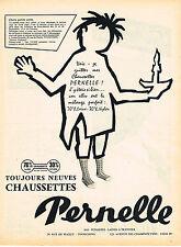 PUBLICITE ADVERTISING 025  1957  PERNELLE  chaussettes  enfants  garçons