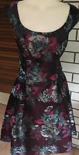 REVIEW  sz 12 Womens Stunning Dress Purple Ec As New EXPRESS POSTED