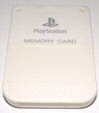 Genuine Sony Playstation 1 Memory Card 1MB White PS1 Preloved