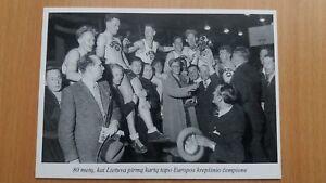 1937 Eurobasket. Lithuania national basketball team, European champions