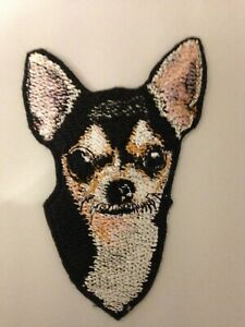 Machine Embroidered  Chihuahua Applique  Sizes    5.1W X 7.5H  or   2.6W X 3.7H