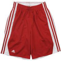 Adidas Men's Hoops 10 Inseam Shorts Basketball Short University Red Sz M NEW