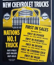1941 yellow Chevrolet nation's number one truck color vintage ad