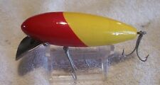 """New listing Beautiful Vintage Pelican Wood Lure 4/15/21M Yellow Red 3.25"""""""