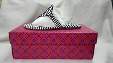 Tory Burch Sandal Nautical Stripe Small Navy Sea White Miller Size 6 Agsbeagle