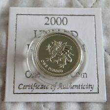UK 2000 WELSH DRAGON DESIGN £1 SILVER PROOF - coa