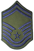 One (1) Pair US Air Force Senior Master Sergeant Rank Subdued Chevron Patches