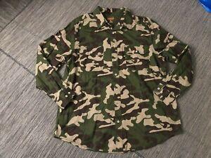 Boulder Creek Trading Company Adult Mens XL Big Camouflage Button Up Shirt Camo