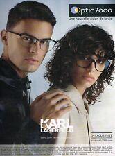 011a38a825cc12 B- Publicité Advertising 2017 Les Lunettes de Soleil Karl Lagerfeld Optic  2000