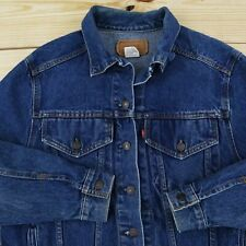 Vintage Levi's Denim Jacket Men's Medium 1990s Blue Jean Trucker Made in USA