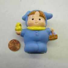 Fisher Price Little People BLUE EASTER BUNNY KID w/ SPRING CHICK BASKET Holiday
