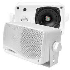 PYLE PLMR24 Wasserdicht Lautsprecher Aufbau für Bott Bad Sauna weiß